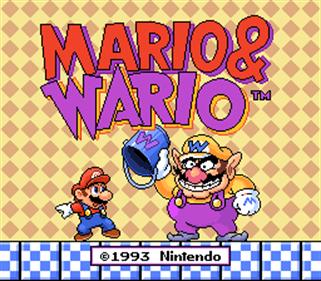 Mario To Wario: Mario & Wario - Screenshot - Game Title