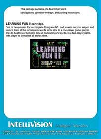 Learning Fun II - Box - Back