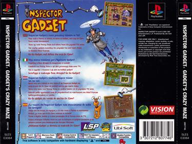 Inspector Gadget: Gadget's Crazy Maze - Box - Back