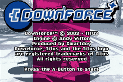 Downforce - Screenshot - Game Title