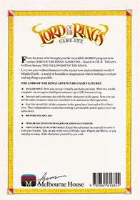 Lord of the Rings: Game One - Box - Back