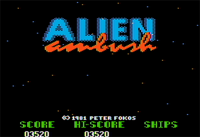 Alien Ambush - Screenshot - Game Title