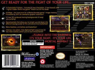Mortal Kombat 3 - Box - Back