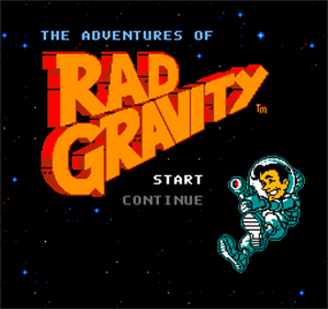 The Adventures of Rad Gravity - Screenshot - Game Title
