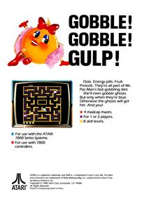 Ms. Pac-Man - Box - Back