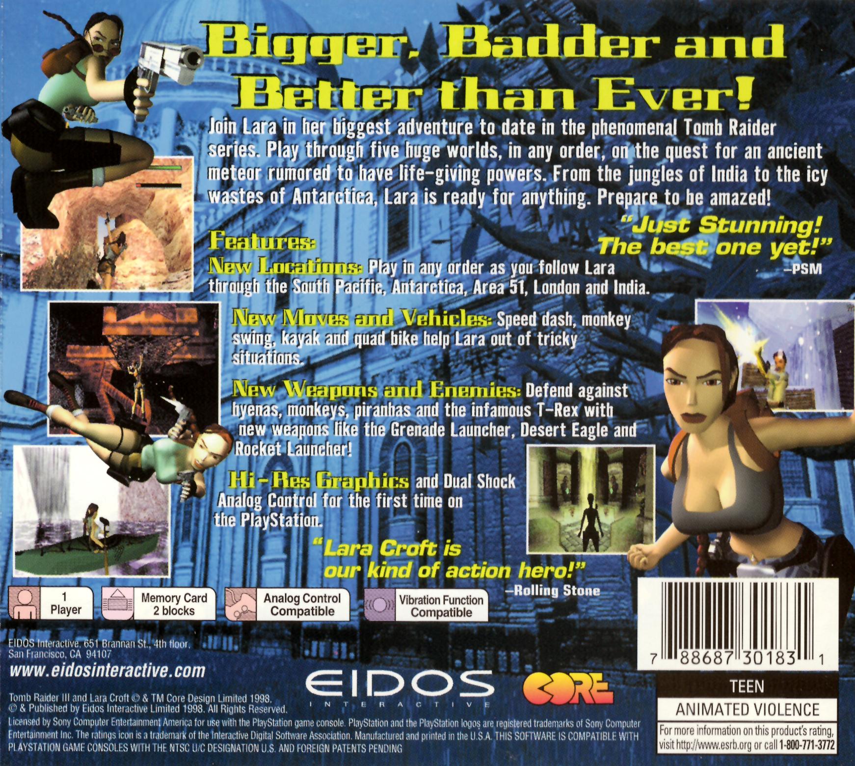 Tomb Rider Wallpaper: Tomb Raider III: Adventures Of Lara Croft Details