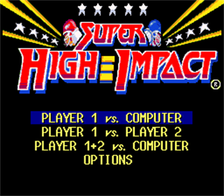 Super High Impact - Screenshot - Game Title