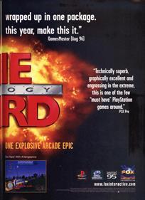 Die Hard Trilogy - Advertisement Flyer - Back