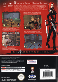 BloodRayne - Box - Back