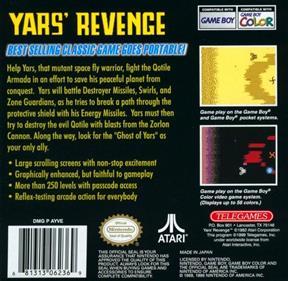 Yars' Revenge - Box - Back