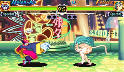 Night Warriors: Darkstalkers' Revenge - Screenshot - Gameplay