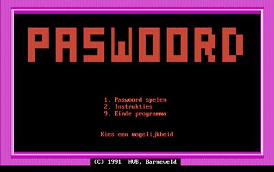 Paswoord - Screenshot - Game Title