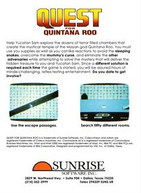 Quest for Quintana Roo - Box - Back