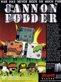 Cannon Fodder - Advertisement Flyer - Front
