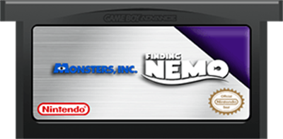 2 Games in 1: Monsters, Inc. + Finding Nemo - Fanart - Cart - Front