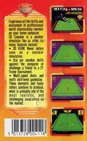 3D Snooker - Box - Back