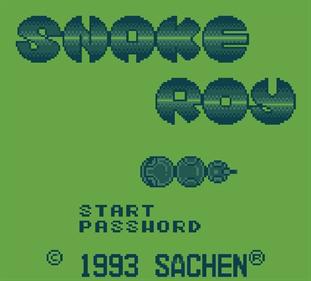 Snake Roy - Screenshot - Game Title