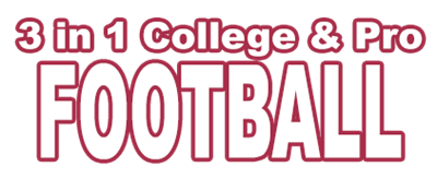 3 in 1 College & Pro Football - Clear Logo