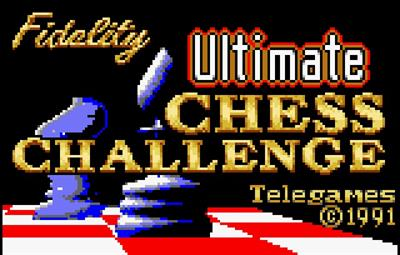 The Fidelity: Ultimate Chess Challenge - Screenshot - Game Title