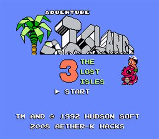 Adventure Island 3: The Lost Isles - Screenshot - Game Title