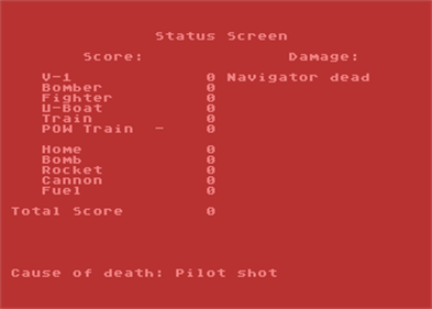 Ace of Aces - Screenshot - Game Over