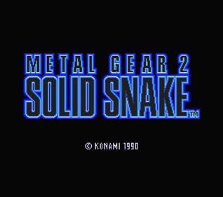 Metal Gear 2: Solid Snake - Screenshot - Game Title