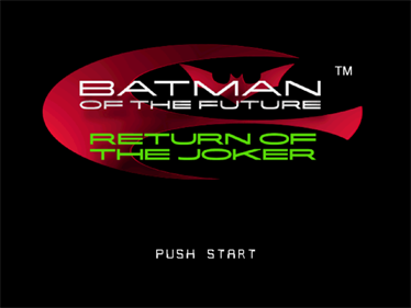 Batman Beyond: Return of the Joker - Screenshot - Game Title
