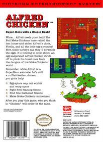 Alfred Chicken - Box - Back