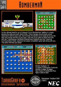 Bomberman - Fanart - Box - Back