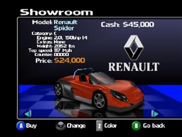 Roadsters - Screenshot - Game Select
