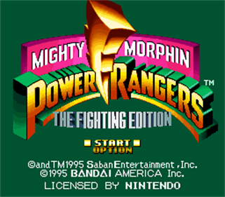 Mighty Morphin Power Rangers: The Fighting Edition - Screenshot - Game Title