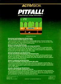 Pitfall! - Box - Back