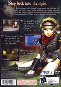 Shin Megami Tensei: Persona 3 FES - Box - Back
