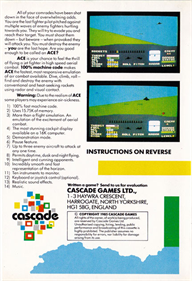 ACE: Air Combat Emulator - Box - Back