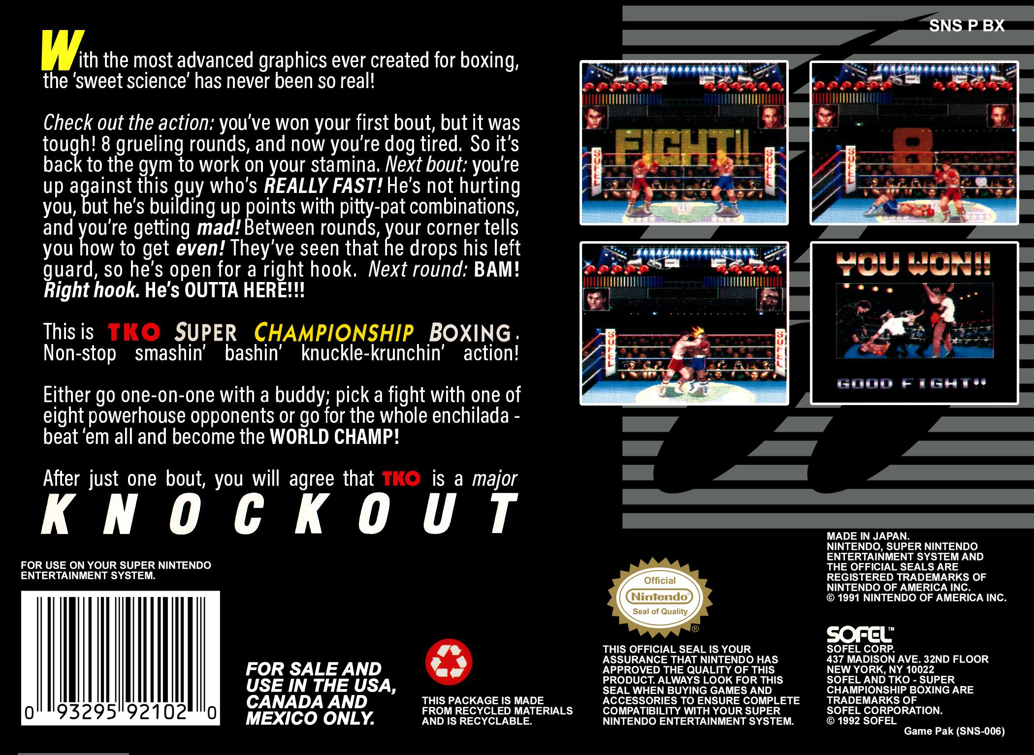 TKO Super Championship Boxing Details LaunchBox Games