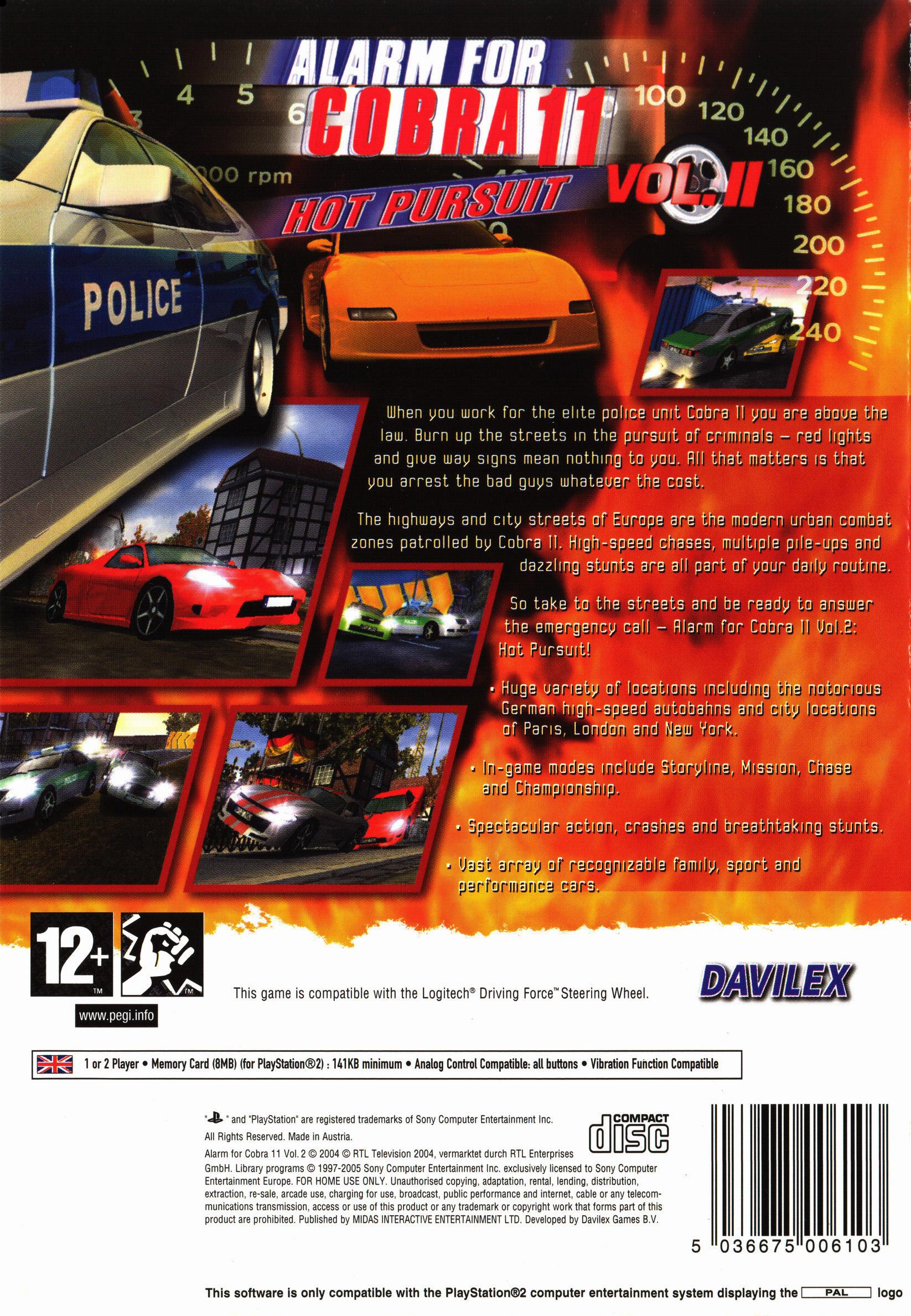 Alarm for Cobra 11 Vol 2 Hot Pursuit Details LaunchBox