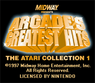 Arcade's Greatest Hits: The Atari Collection 1 - Screenshot - Game Title