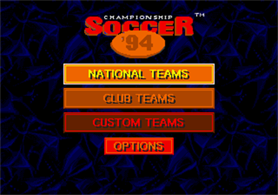 Championship Soccer '94 - Screenshot - Game Title