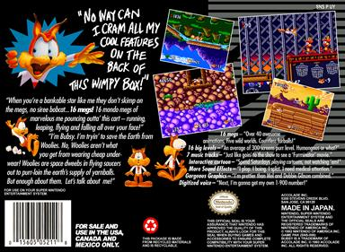 Bubsy in: Claws Encounters of the Furred Kind - Box - Back