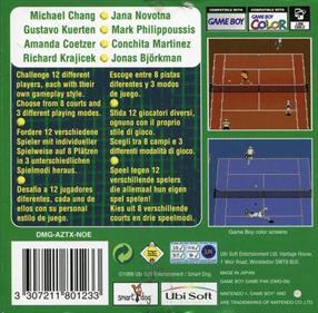 All Star Tennis 2000 - Box - Back
