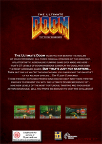 The Ultimate DOOM - Box - Back