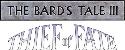 The Bard's Tale III: Thief of Fate - Clear Logo