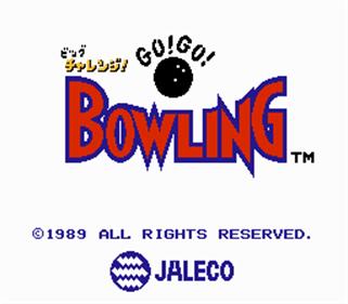Big Challenge! Go! Go! Bowling - Screenshot - Game Title
