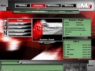 Moto Racer 3 - Screenshot - Game Select
