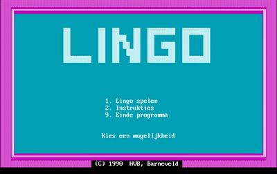 Lingo - Screenshot - Game Title