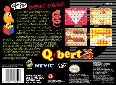Q*bert 3 - Box - Back
