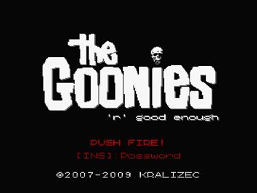 The Goonies 'R' Good Enough - Screenshot - Game Title