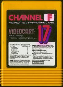 Videocart-17: Pinball Challenge - Cart - Front