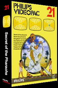 Secret of the Pharaohs - Box - 3D