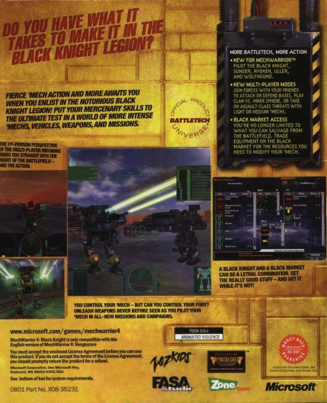 MechWarrior 4: Black Knight Details - LaunchBox Games Database